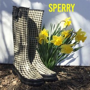 Sperry Top Sider Rain Boots Size 8